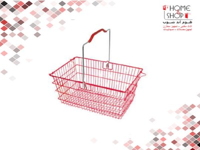 Basket-Shopping-Small-Lux-Red-(Code 101839) D